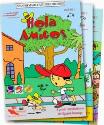 Hola Amigos! vol 1, 2, & 3 Gentle introduction to Spanish